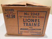 Lionel Santa Fe 2343 Fe Master Carton And Boxes, Great Matching Set With Inserts