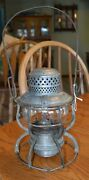 Great Northern Railroad Armspear 1925 Embossed Gnry Globe And Embossed Lantern
