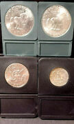 4 Silver Coin Lot Includes 2x 1/50c/25c All In Ms+ Condition's Black Holders