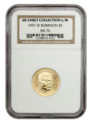 1997-w Jackie Robinson 5 Ngc Ms70 - Modern Commemorative Gold