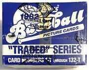 """1982 Topps Baseball """"traded"""" Series Factory Sealed Cards - Bbce Certified"""