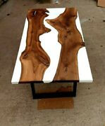 60 X 30 Epoxy Resin Wooden Table Top Handmade Work Furniture