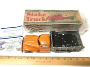 Complete Early Hubley Kiddie Toy Stake Truck 470 Scale Model With Original Box