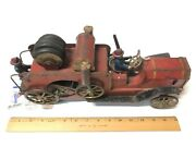1920's Dayton Friction Toy Co. Pressed Steel 19 1/2 Toy Fire Truck W/drivers 2