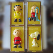 Vintage Snoopy Peanut Wall Plate Picture Frame 4-piece Set 1965