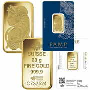 10 Grams - Two 5 Gram Gold Bars 99.9 Gold - Pamp Suisse Fortuna In Sealed Assay