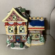 2004 Village Collection Toy Store Light Up Christmas Village Display House