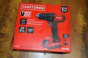 Craftsman Cmcd700 V20 Lithium-ion 1/2 Cordless Drill/driver And Battery