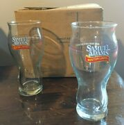 Set Of Two Sam Adams Boson Lager For The Love Of Beer Beer Glasses 16 Oz