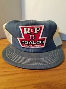 Nos Vintage R And F Coal Mining Patch Trucker Hat Snap Back K-brand