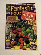 Fantastic Four 25 Hulk Vs Thing 2nd Silver Age App Of Captain America 1964