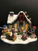 Snoopy Danbury Mint The Peanuts Christmas Cottage Lighted New In The Box Mint