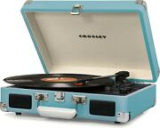 Crosley Cruiser Deluxe Bluetooth Portable Turntable Record Player Blue W/stand