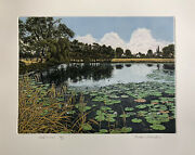Graham Evernden B1947 Limited Edition Etching Cloud Lillies Ed 350