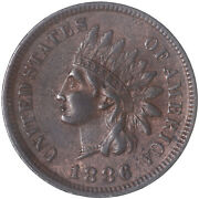 1886 Indian Head Cent Type 1 About Uncirculated Penny Au See Pics H352