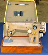 Singer 319w Sewing Machine With Case Rare Color Brown Zig Zag Stich