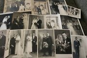 Antique And Vintage Lot Of 16 Bride And Groom Wedding Portrait Photographs
