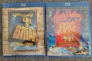 Monty Python Holy Grail And Life Of Brian Blu-ray Lot Brand New Factory Sealed