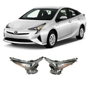 Fits 2016-2018 Toyota Prius Headlights Headlamps Pair 2pcs Replacement