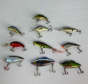 Lot Of 10 Bass Fishing Lures - Ships Free