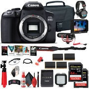 Canon Eos Rebel 850d / T8i Dslr Camera Body Only + 4k Monitor + Mic + More