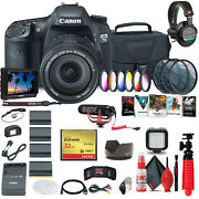 Canon Eos 7d Dslr Camera With 18-135mm Kit 3814b016 + 4k Monitor + Mic + More