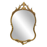 Vintage French Rococo Giltwood Baroque Wall Hanging Mirror 2x4