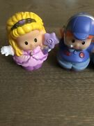 Fisher-price Little People Lot Of 3. Princess 2 Airplane Pilot. Pre Own. Good