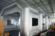Intsupermai Mobile Giant Inflatable Car Paint Spray Booth Big Tent 33x16x11ft Us