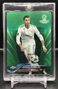 Limited To 99 Sheets 2017-18 Topps Chrome Uefa Cristiano Ronaldo Green Refractor