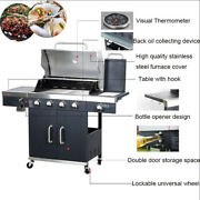 Intsupermai Outdoor Gas Grill Courtyard Stainless Barbecue Grill Bbq For Party