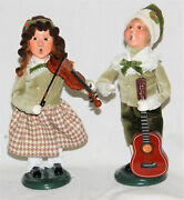 Byers Choice Musical Family Boy And Girl 2021 Carolers - New - Free Shipping