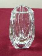 Rare Baccarat France Late 20th Century Modern Clear Crystal Vase