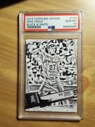 2019 Topps Big League Mike Trout Black And White 170 Ssp 07/50 Gem Mint Psa 10