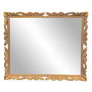 Vintage French Giltwood Baroque Wall Hanging Mirror 2x3