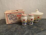 Fire King Tulip Grease Jar Salt And Pepper In Box Anchor Hocking 300 150