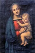 17th 18th Century Italian Old Master Madonna And Baby Raphael 1483-1520