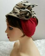 Yvonne Armand Made In France 211 Rue Saint Honore Vtg 40's Women's Winter Hat.