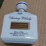 80th Anniversary Pottery Bottle Abacus Suntory Whiskey