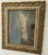 Mid 19th Century 1850 Victorian Gilt Gesso Wood Frame-print For Display Only