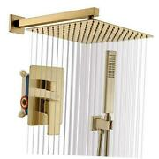 Shower System Shower Faucets Sets Complete Contain 12 Inch Golden Brushed Gold