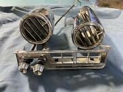 Original 1959 Chevy Impala Factory Ac Center Outer Air Conditioning Vents