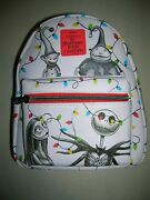 New Loungefly The Nightmare Before Christmas Holiday Lights Mini Backpack Bag