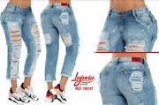 Lujuria Jeans Colombianos Ripped Boyfriend Colombian Push Up Levanta Colasize10