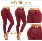 Nye Jeans Colombianos Colombian Push Up Jeans Levanta Cola Butt Lift Size 1and3