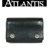 Chrome Hearts Ginza Store Folds Wallet Cross Button Patch Trifold Purse Razor