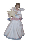 Lladro 6132 Angel Of The Stars Le Figurine Statue Tree Topper Retired