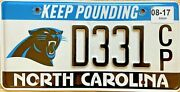 North Carolina Panthers License Plate Nfl Football Keep Pounding D331 Cp 2017