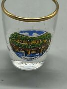 Heideberg Shot Glass Clear Gold Trim 2 Tall Gently Used See Photos