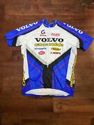 Vintage Cannondale Volvo 3/4zip Cycling Bike Racing Jersey Mtb Usa Made Mens Xl